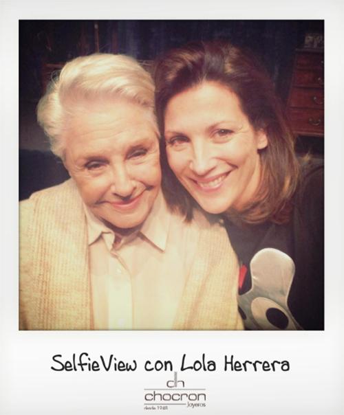 SelfieView con lola Herrera