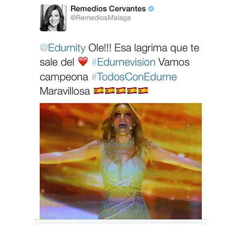 Segundo tuit Eurovision