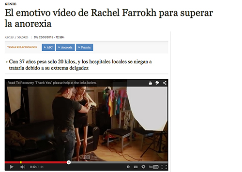 Rachel Farrokh anorexia