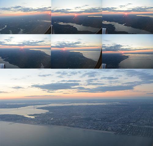 Puesta de sol en  New York desde vuelo de Air Europa